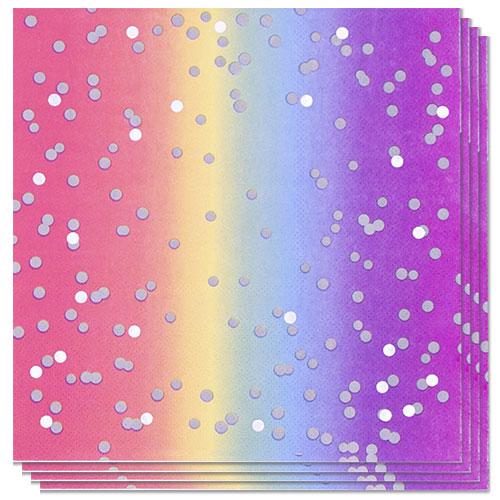 Servilletas De Almuerzo Rainbow Ombre 33Cm 3Ply - Paquete De 16