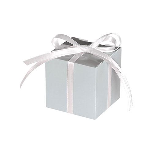 Cajas De Regalo De Papel Plateado - Paquete De 12