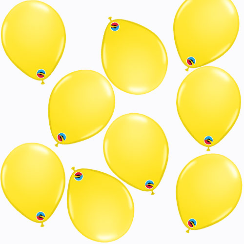 Mini Globos De Látex Qualatex Redondos Amarillos De 13 Cm / 5 Pulgadas - Paquete De 100