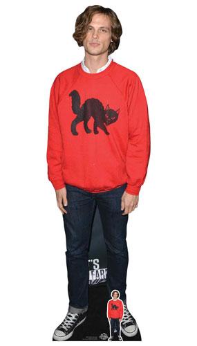 Mentes Criminales Matthew Gray Gubler Jersey Rojo Tamaño Natural Recorte De Cartón 185Cm