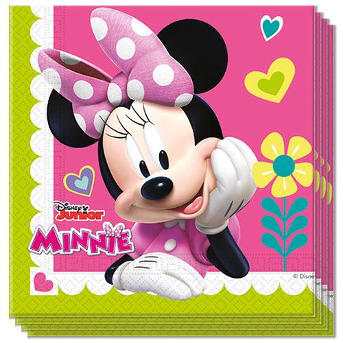 Servilletas Disney Minnie Mouse 33Cm 2 Capas - Paquete De 20