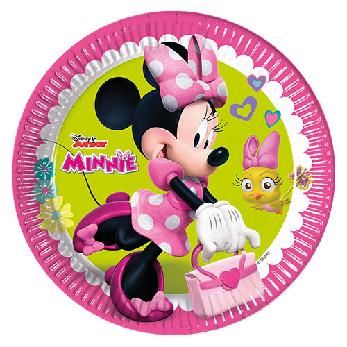 Platos De Papel Redondos De Disney Minnie Mouse 23Cm - Paquete De 8