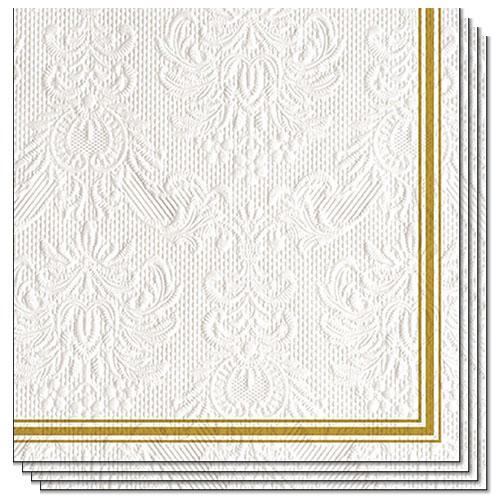 Servilletas De Almuerzo Premium Blancas Con Relieve De Elegancia Lea 3 Capas 33Cm - Paquete De 15