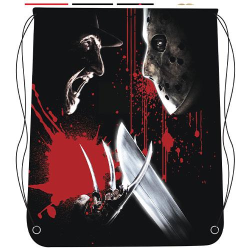 Freddy Vs Jason Bolsa De Halloween Con Cordón 46Cm