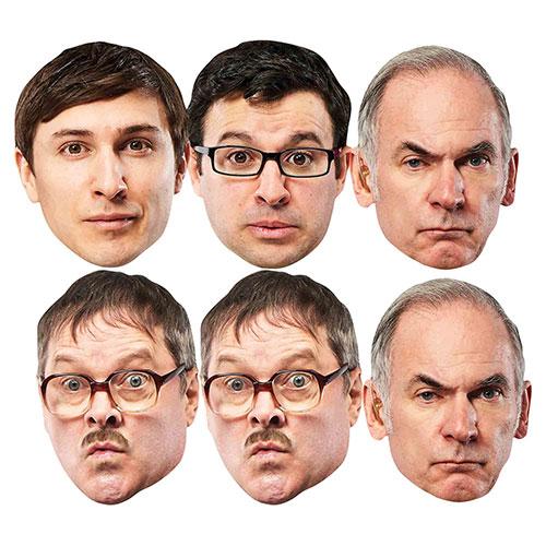 Máscaras Faciales De Cartón Para La Cena Del Viernes Por La Noche - Paquete De 6
