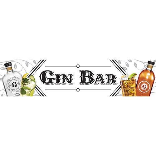 Gin Bar Pvc Blanco Letrero De Fiesta Decoración 110Cm X 26Cm