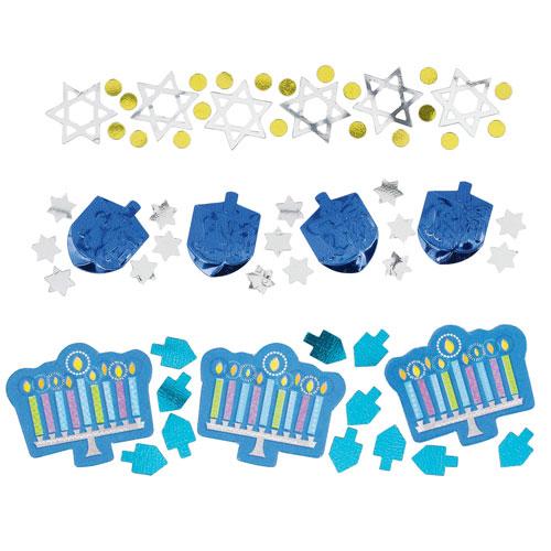 Confeti De Mesa Valor Celebración De Hanukkah 34 Gramos - Paquete De 3