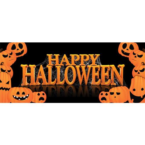Feliz Halloween Calabazas Pvc Fiesta Letrero Decoración 60Cm X 25Cm