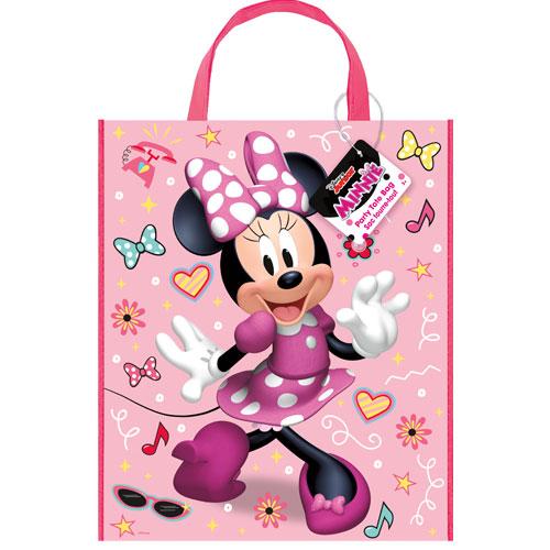 Bolso De Mano De Plástico Minnie Mouse 33Cm X 28Cm