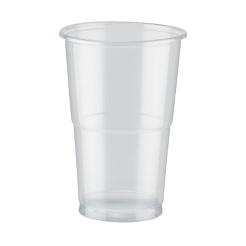 Pla Vasos Transparentes Compostables De Media Pinta 284Ml / 10 Oz - Paquete De 50