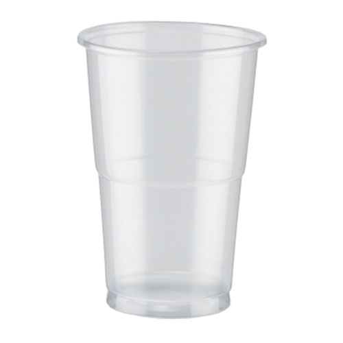Pla Vasos Transparentes Compostables De Media Pinta 350Ml / 12 Oz - Paquete De 50