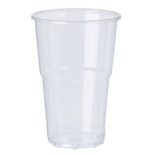 Vasos De Pinta Transparente Compostables Pla 568Ml / 20 Oz - Paquete De 50