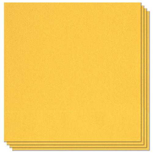 Servilletas De Comida Amarillo Girasol 33Cm 2 Capas - Paquete De 20