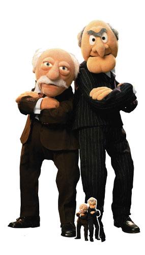 Los Muppets Statler Y Waldorf Recorte De Cartón De Tamaño Natural 149Cm