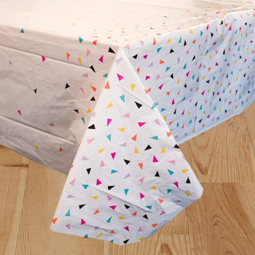 Mantel De Plástico Triangular Confeti 213Cm X 137Cm