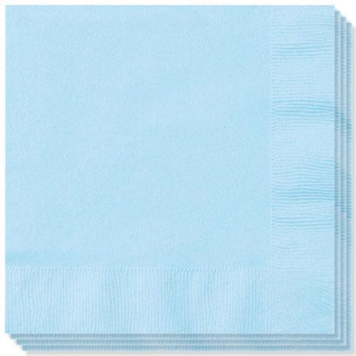 Servilletas Azul Bebé 40Cm 2 Capas - Paquete De 100