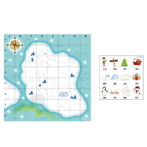 Juego De Fiesta De Mapa Del Tesoro De Navidad