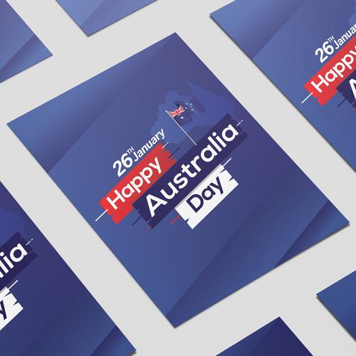 Bandera De Australia Día Feliz En El Palillo De Señal Cartel Del Partido Del Pvc A2 Decoración De 59Cm X 42Cm