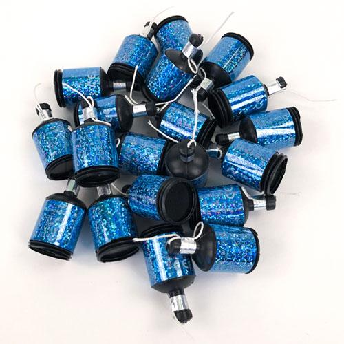 Poppers Holográficos De Fiesta Azul Glitz - Paquete De 20