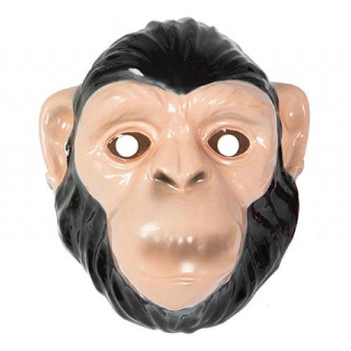 Mascarilla Plástica De Chimpancé 23Cm