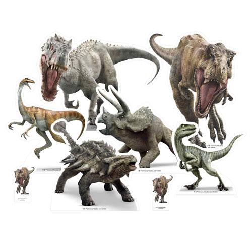 Jurassic World Dinosaurio Decoración De Mesa Recortada - Paquete De 8