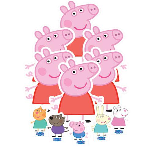 Decoraciones De Mesa De Peppa Pig - Paquete De 11
