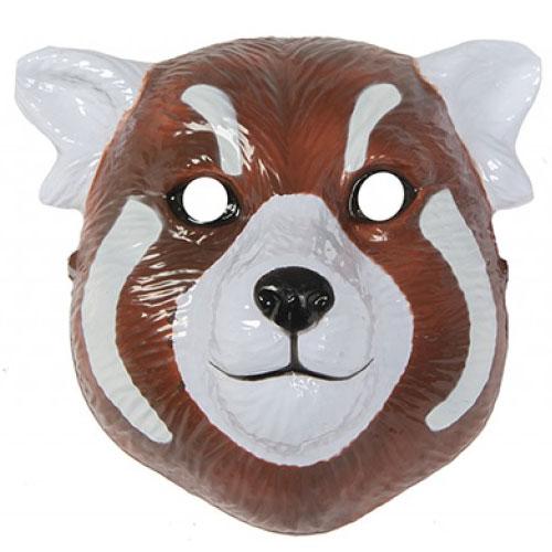 Mascarilla De Plástico Panda Rojo 22Cm