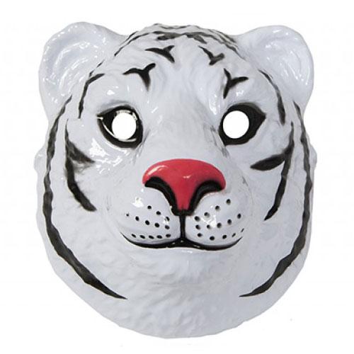 Mascarilla De Plástico Tigre Blanco 23Cm