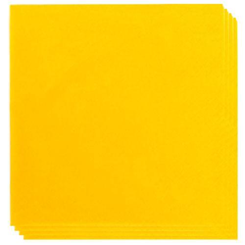 Servilletas Amarillas 33Cm 2 Capas - Paquete De 100
