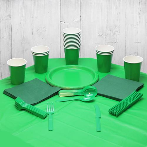 Paquete De Fiesta Verde Para 14 Personas