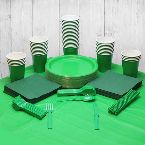 Paquete De Fiesta Verde Para 56 Personas