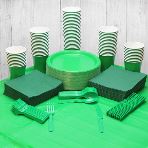 Paquete De Fiesta Verde Para 98 Personas