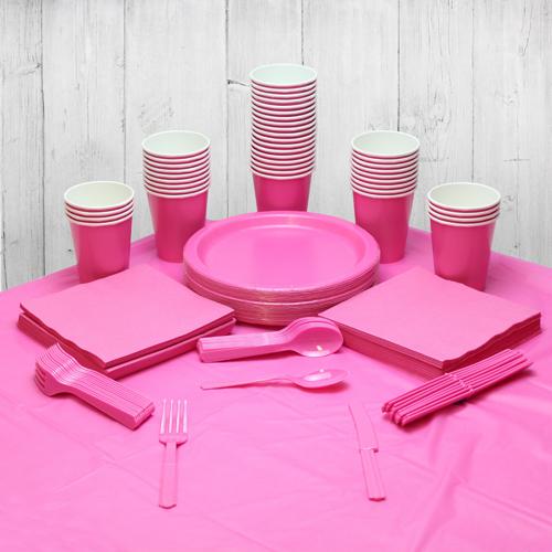 Paquete De Fiesta Rosa Fuerte Para 56 Personas