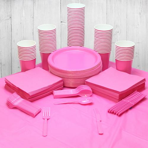 Paquete De Fiesta Rosa Fuerte Para 98 Personas