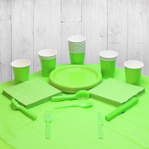 Paquete De Fiesta Verde Lima Para 14 Personas