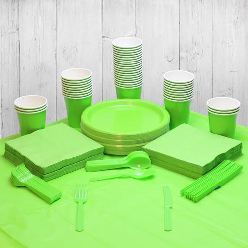Paquete De Fiesta Verde Lima Para 56 Personas