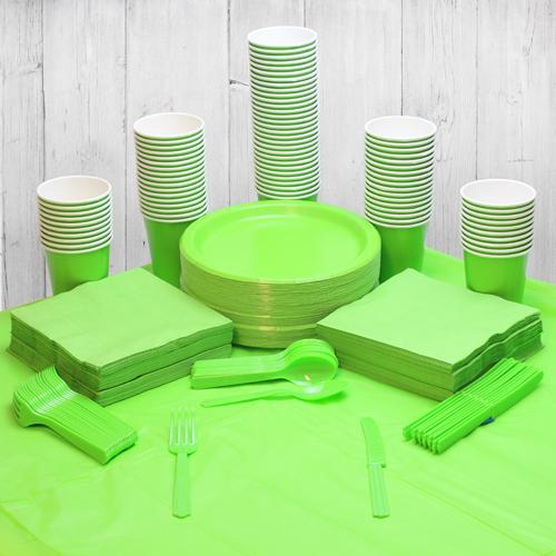 Paquete De Fiesta Verde Lima Para 98 Personas