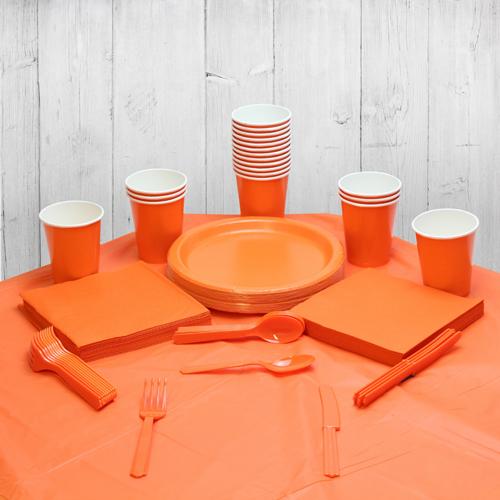 Paquete De Fiesta Naranja Para 14 Personas