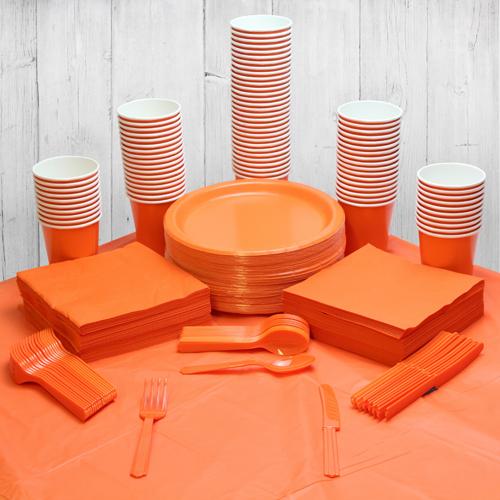 Paquete De Fiesta Naranja Para 98 Personas