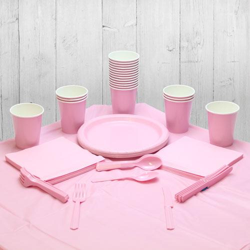 Paquete De Fiesta Rosa Para 14 Personas