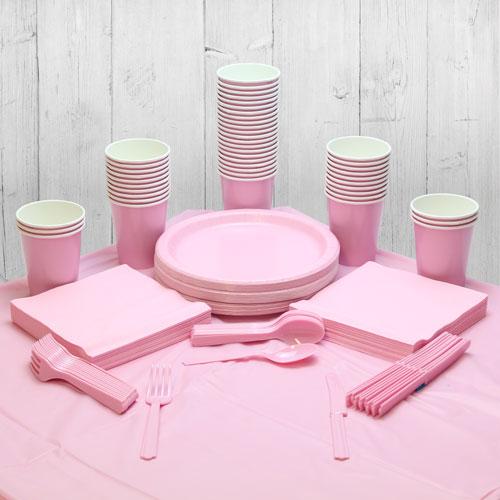 Paquete De Fiesta Rosa Para 56 Personas
