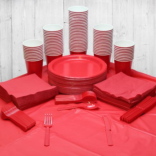 Paquete De Fiesta Rojo Para 98 Personas