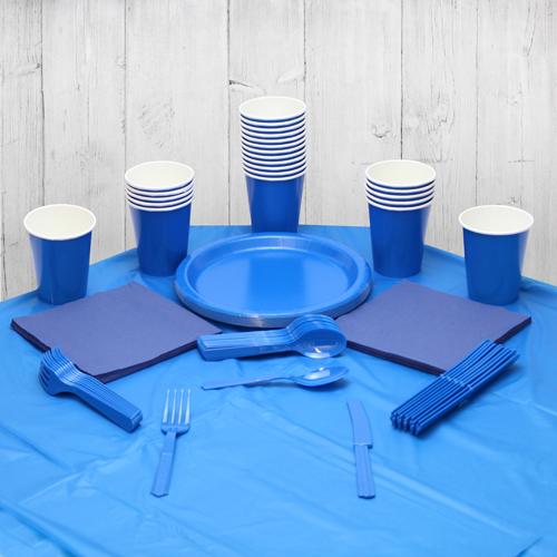 Paquete De Fiesta Azul Real Para 14 Personas