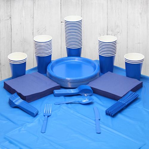 Paquete De Fiesta Azul Real Para 56 Personas