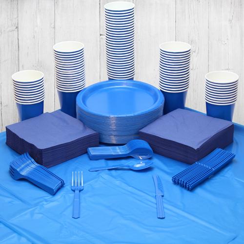 Paquete De Fiesta Azul Real Para 98 Personas