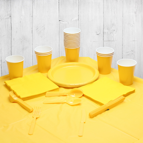 Paquete De Fiesta Amarillo Para 14 Personas