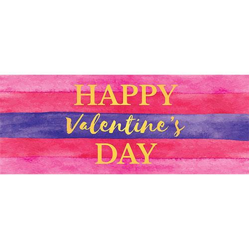 Feliz Día De San Valentín Acuarela Pvc Fiesta Cartel Decoración 60 Cm X 25 Cm