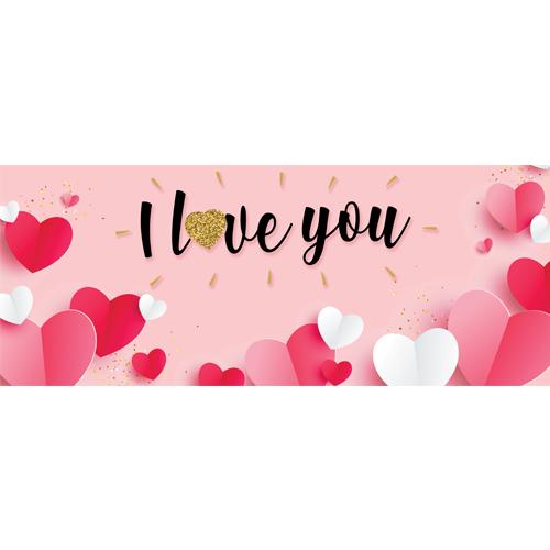 Te Amo Corazones De Papel Día De San Valentín Pvc Fiesta Letrero Decoración 60Cm X 25Cm