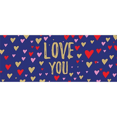 Te Amo Azul Marino San Valentín Pvc Fiesta Letrero Decoración 60 Cm X 25 Cm