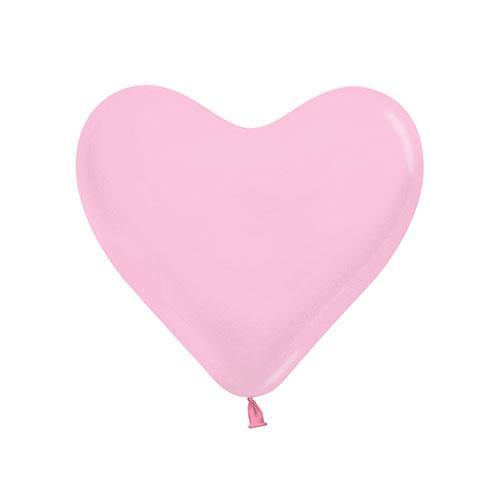 Mini Globos De Látex Biodegradables En Forma De Corazón Rosa 15Cm / 6 Pulgadas - Paquete De 100